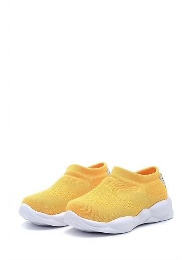First Step Ultra Hafif Memory Foam İç Taban Çocuk Triko Spor Ayakkabı-M-1002 Sarı